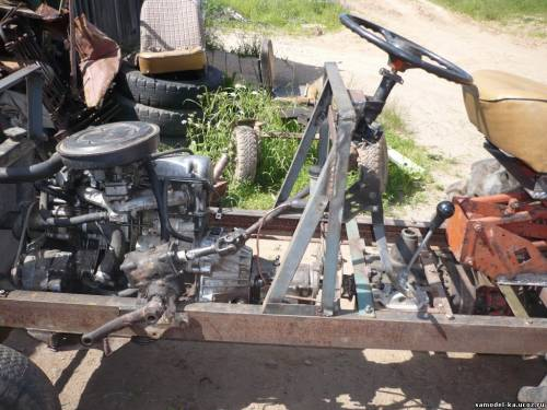 Собрать трактор своими руками с жигулевским двигателем