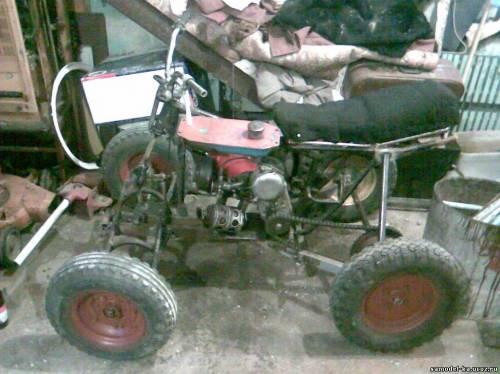 Квадроцикл  из подручных материалов