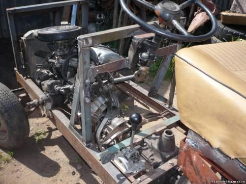 Трактор с двигателем ваз своими руками