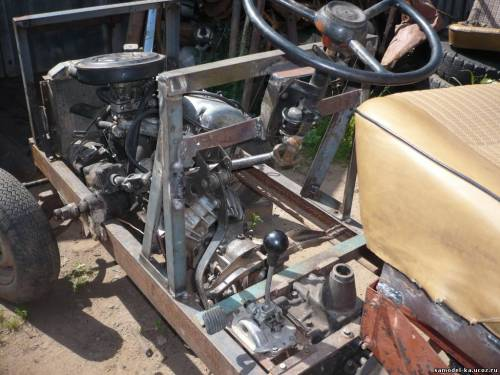 Трактор своими руками фото из жигулей