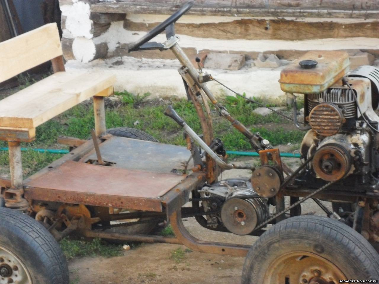 Самоделки тракторов своими руками в домашних условиях видео