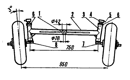 Передний балка самодельного трактора